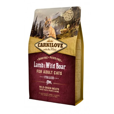 Carnilove Adult Cats Lamb & Wild Boar Sterilized 2kg