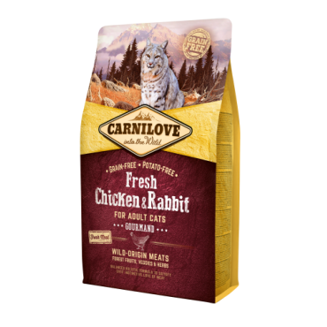 Carnilove Adult Cats Chicken & Rabbit Gourmand 2kg