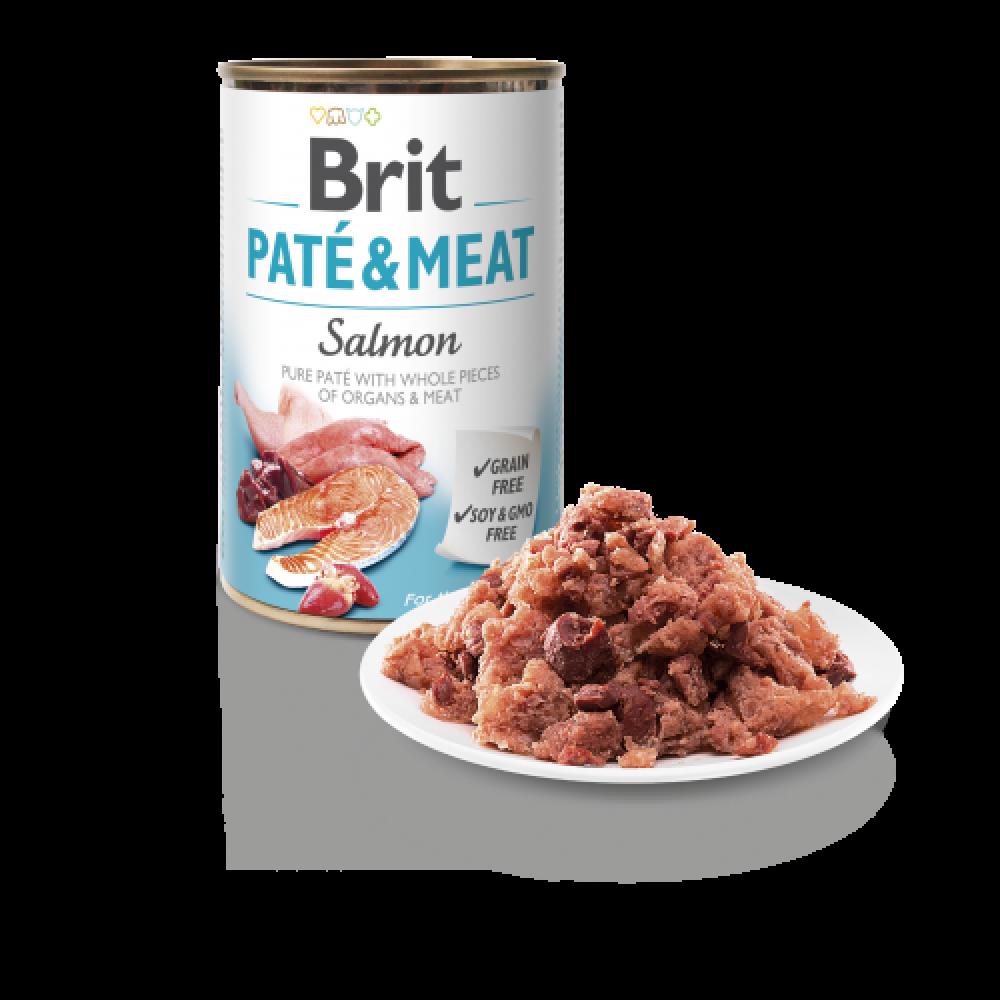 BRIT PATE & MEAT SALMON 400GR (ΣΟΛΟΜΟΣ)