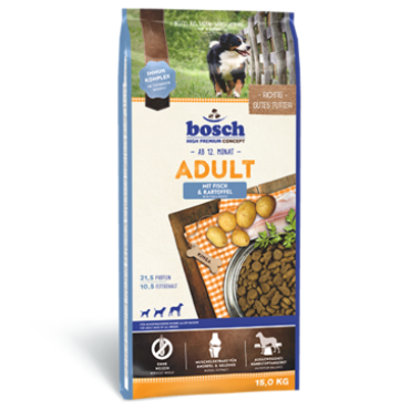 bosch, 'Adult - Fish & Potato'   3 Kg, 15 Kg