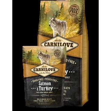 CARNILOVE Salmon & Turkey  FOR LARGE BREED ADULT ≥ 25 KG  1,5kg,12kg