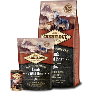 CARNILOVE Lamb & Wild Boar for adult dogs (12kg)