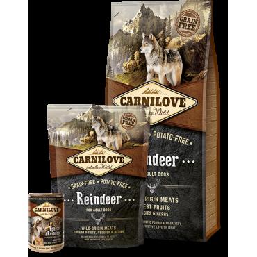 CARNILOVE Reindeer for adult dogs (1,5kg or 12kg)