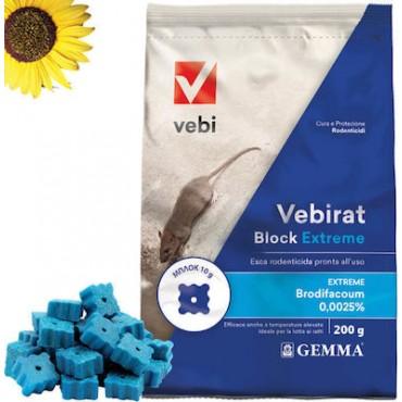 Τρωκτικοκτόνο Vebirat Block Extreme RB | 200gr δόλωμα για ποντίκια